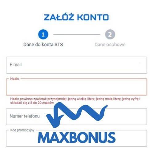 sts kod promocyjny MAXBONUS