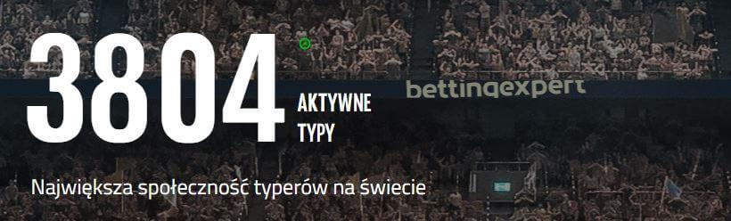 strona z typami bukmacherskimi bettingexpert
